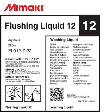 FL012-Z-22 Flushing Liquid 12 Cartridge