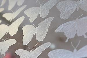 透明胶片上打印磨砂效果
