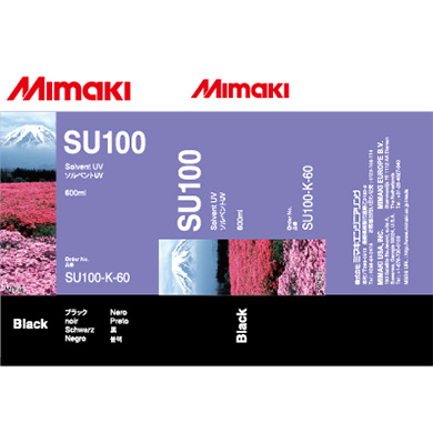 SU100-K-60 SU100 Solvent UV ink pack Black
