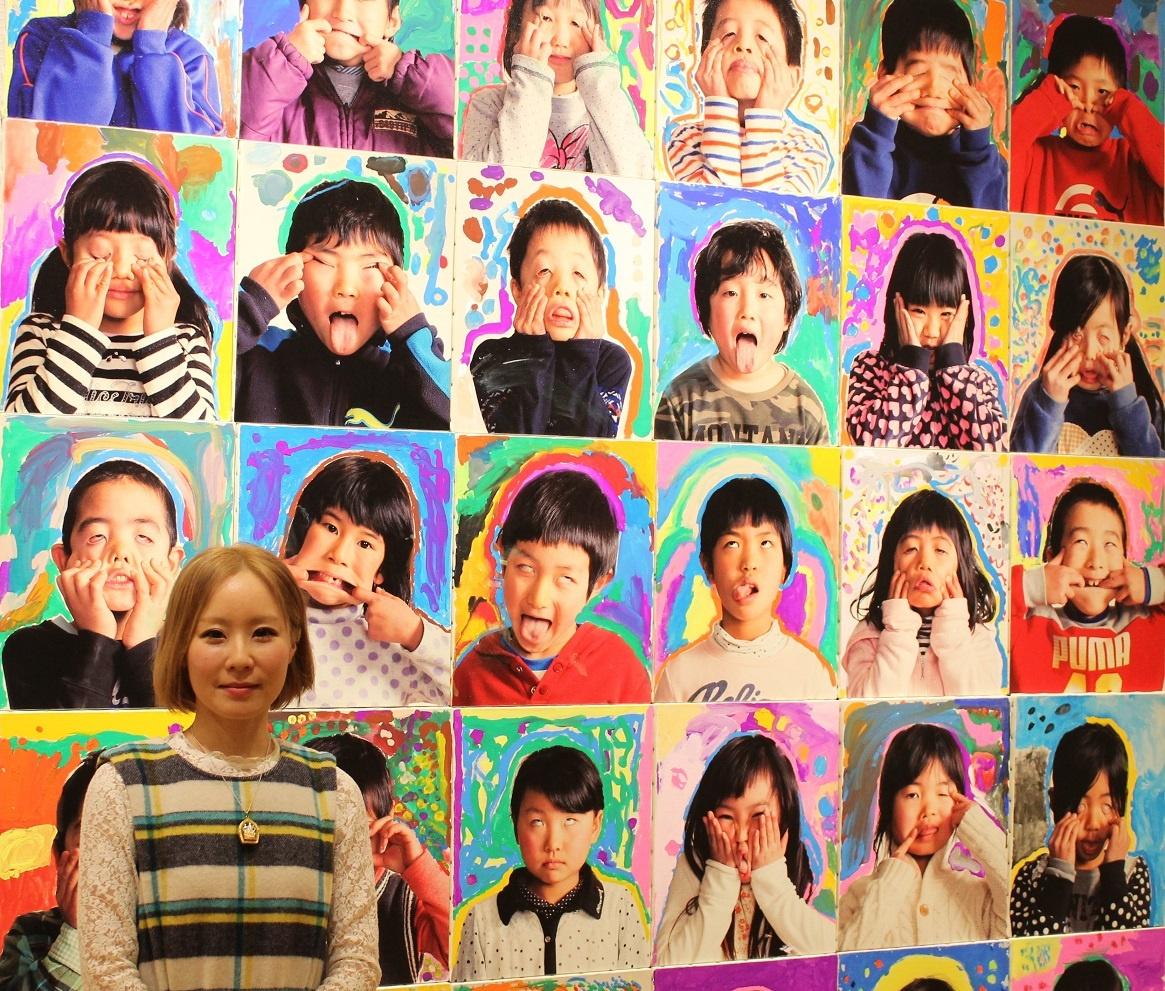 「Chihiro Koshi展」 的特別授课 Appupu项目,是由「设计师 百瀬明彦(MOMOTOSE)」与「画家 Chihiro Koshi」共同合作的