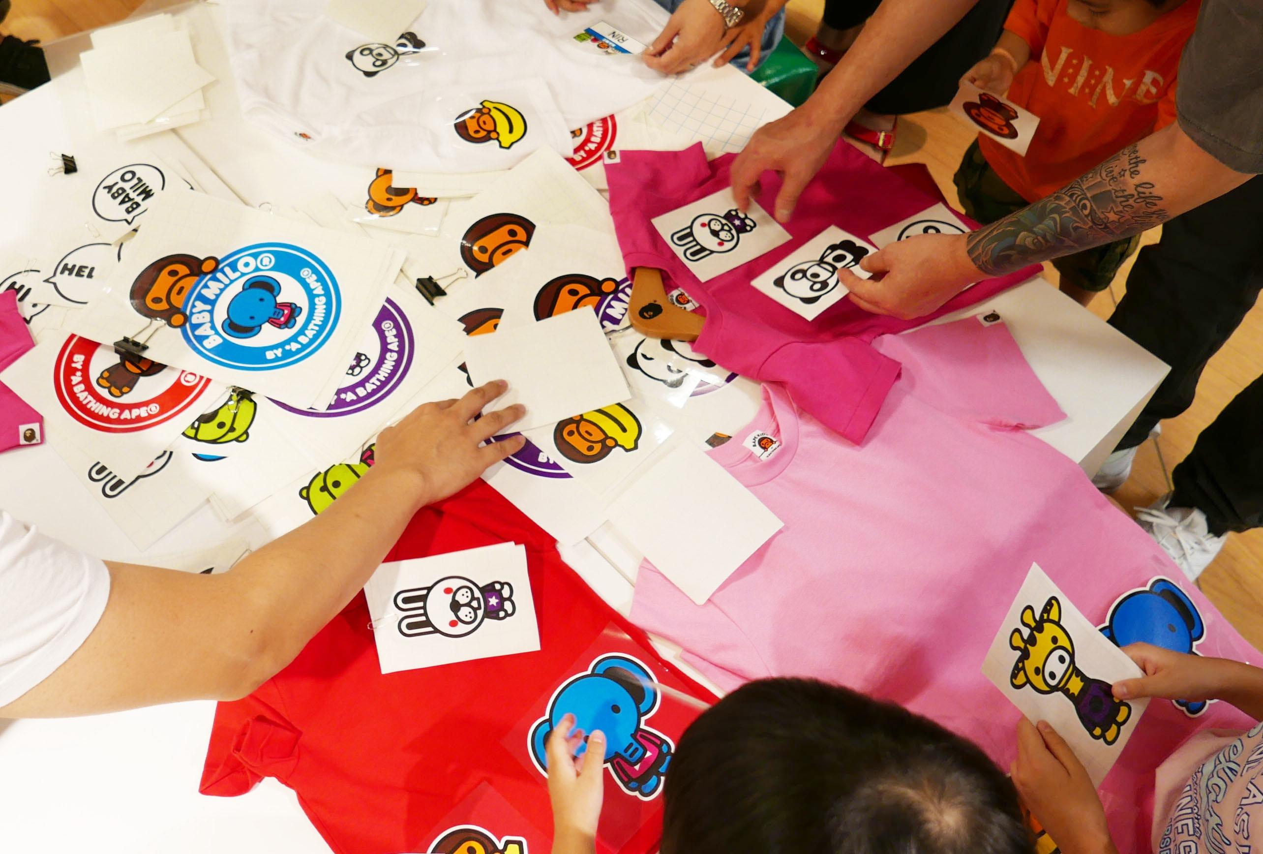 协助BAPE KIDS®定制T恤工作室  @西武池袋本店6楼 童装层